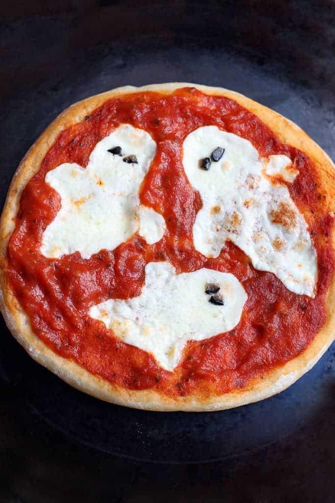 Mini Halloween Pizzas recipe on TastesBetterFromScratch.com