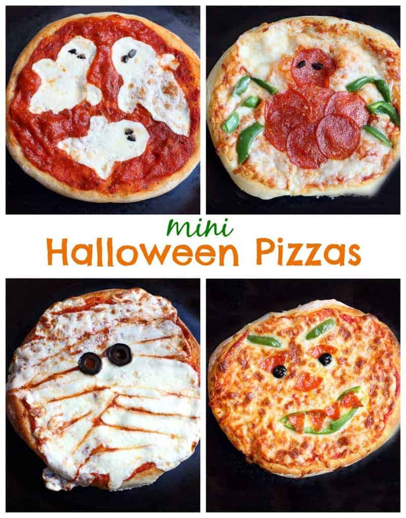 Mini Halloween Pizzas recipe on TastesBetterFromScratch.com