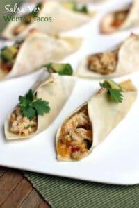 Salsa Verde Wonton Tacos from TastesBetterFromScratch.com