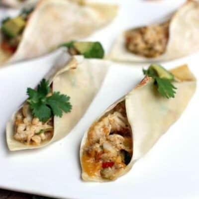 Salsa Verde Wonton Tacos