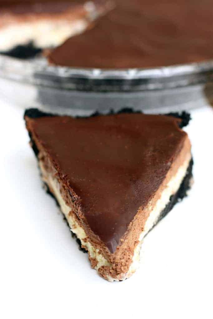 Chocolate Mousse Cheesecake from TastesBetterFromScratch.com