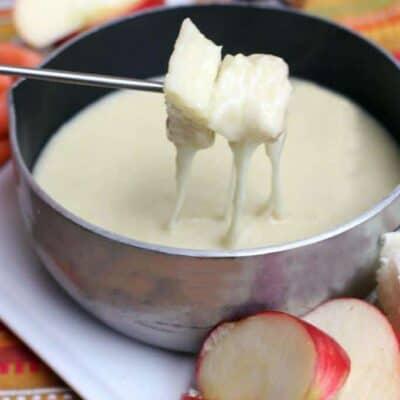 Swiss and Gruyere Cheese Fondue