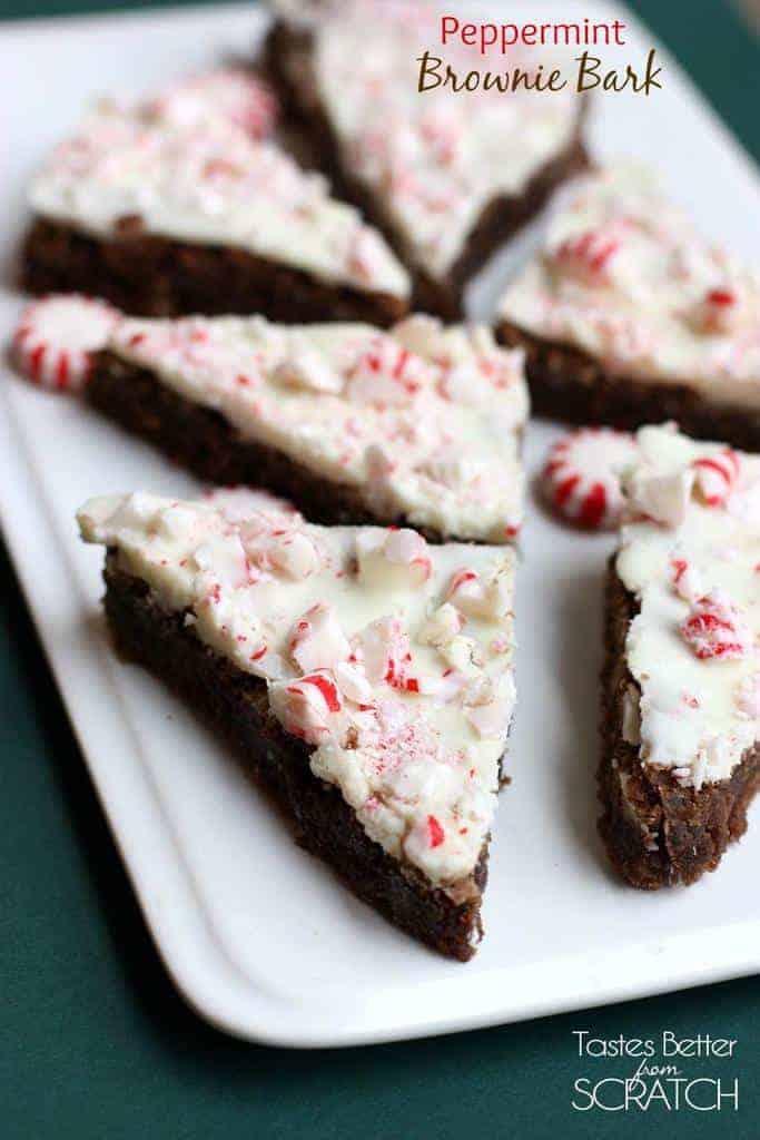 Peppermint Brownie Bark recipe on TastesBetterFromScratch.com