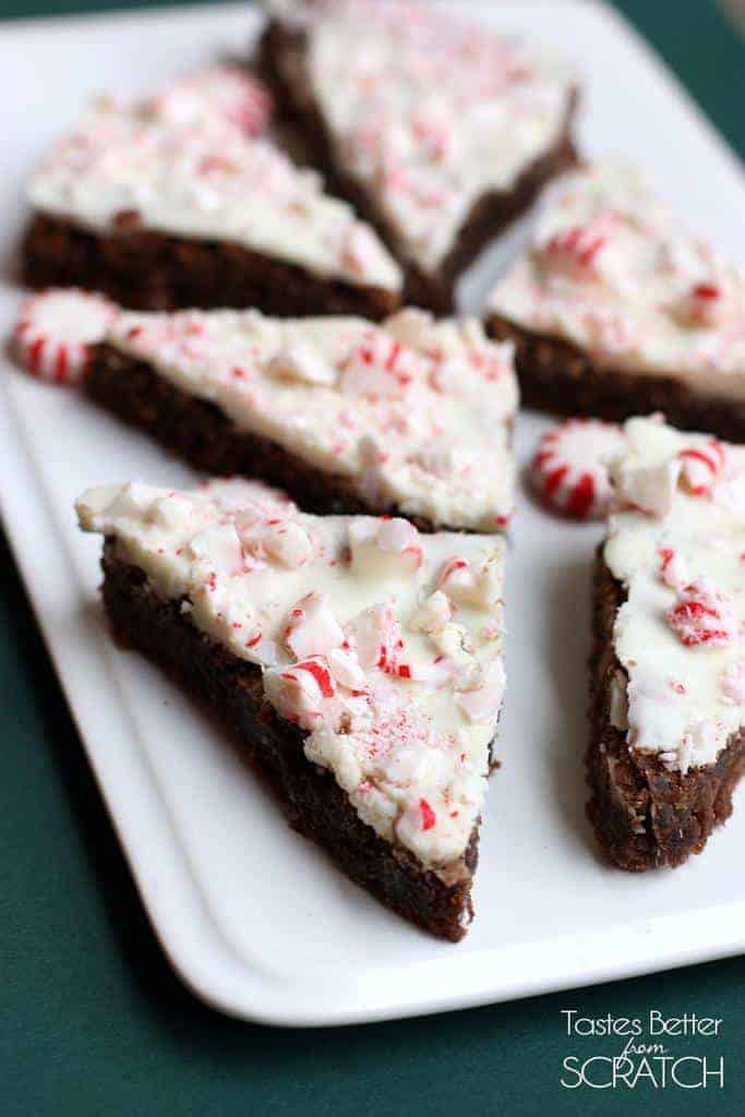 Peppermint Brownie Bark recipe on TastesBetterFromScratch.com