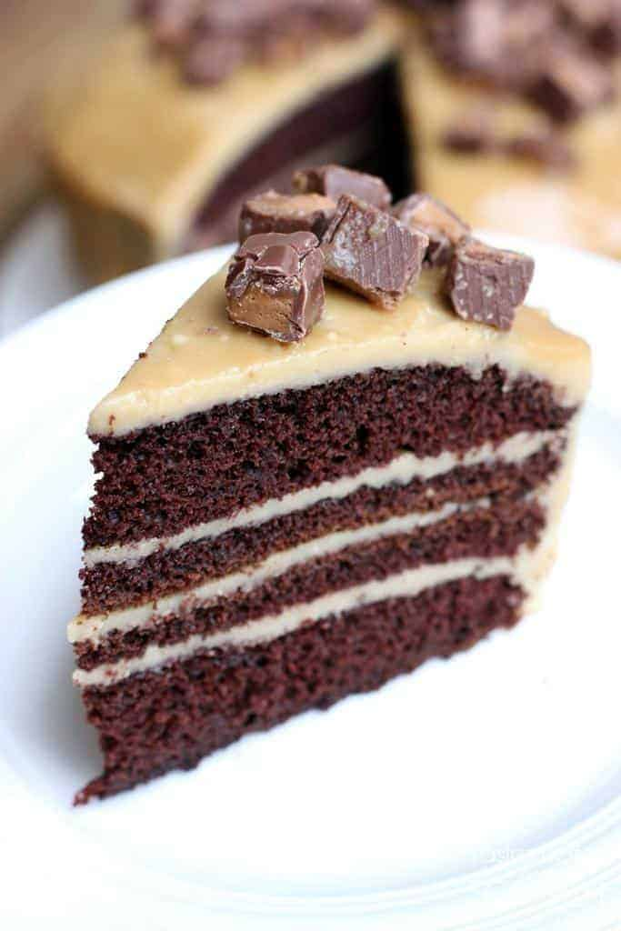 Chocolate Cake with Caramel Frosting