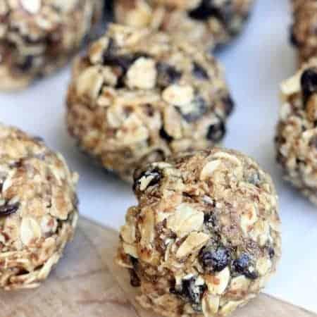 Healthy No-Bake Granola Bites recipe on TastesBetterFromScratch.com