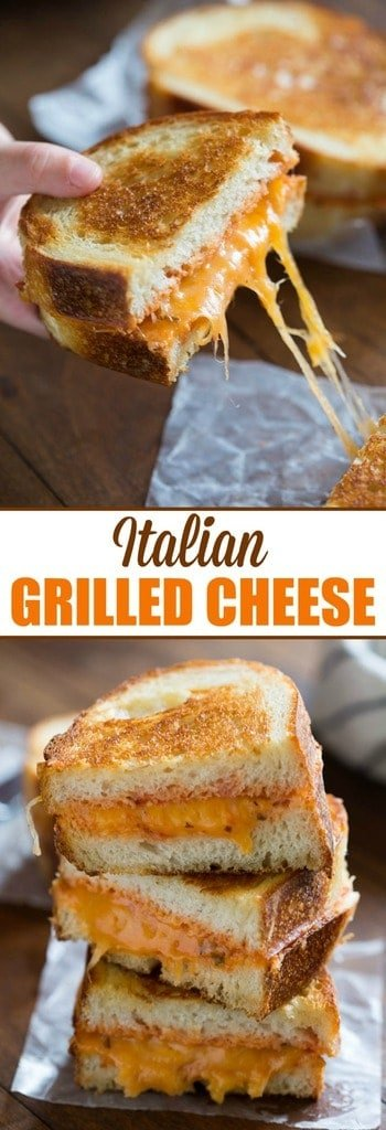 Italian Grilled Cheese Sandwiches is my favorite twist to a traditional grilled cheese!
