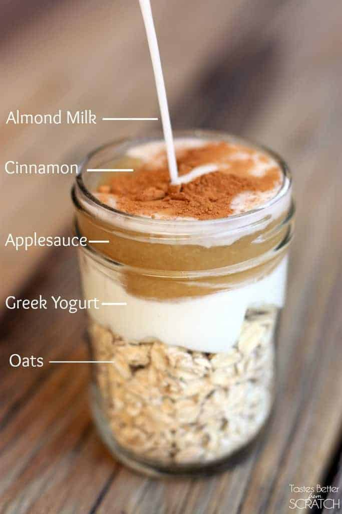 Cinnamon Apple Overnight Oats make the easiest, healthy, grab-and-go breakfast