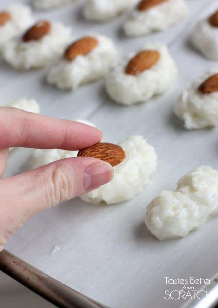 Homemade Almond Joys-only 5 ingredients! Recipe on TastesBetterFromScratch.com