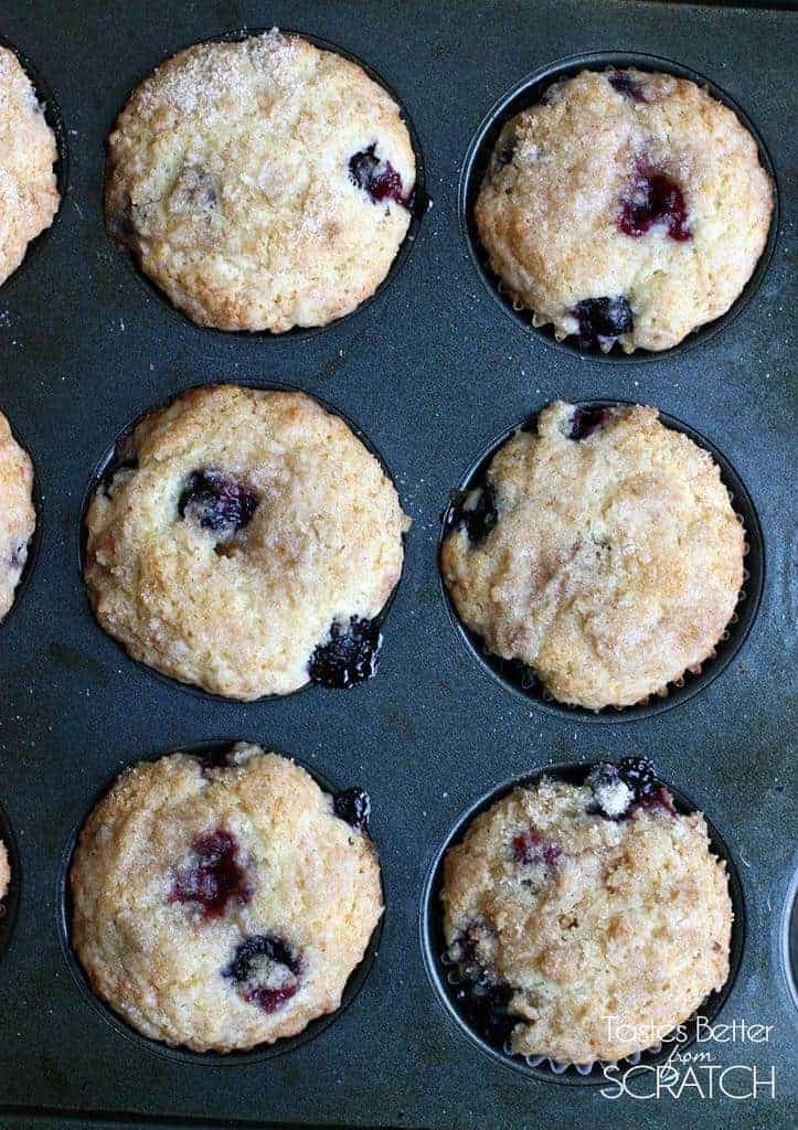 The BEST Blueberry Muffins! Recipe on TastesBetterFromScratch.com