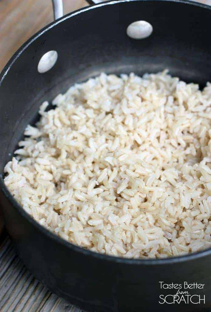 How to Cook Perfect Brown Rice! Recipe on TastesBetterFromScratch.com