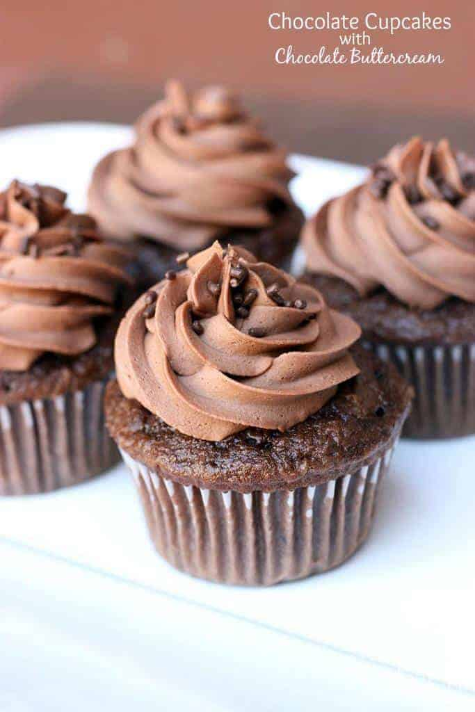 Chocolate Cupcakes with Chocolate Buttercream Frosting | Tastes Better ...
