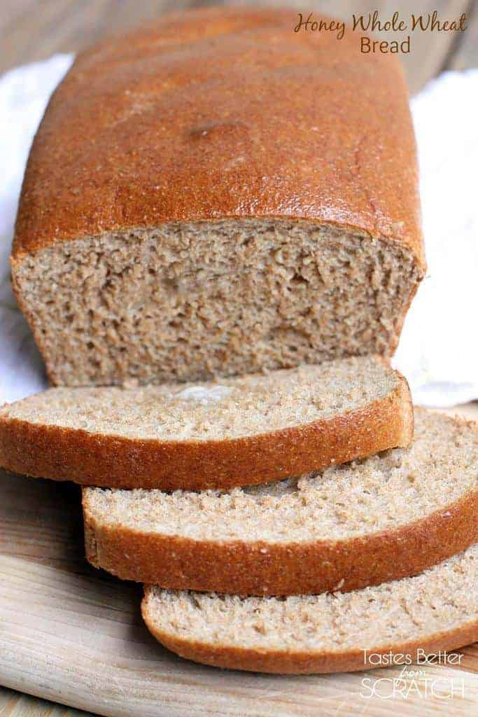 Honey Whole Wheat Bread recipe from TastesBetterFromScratch.com