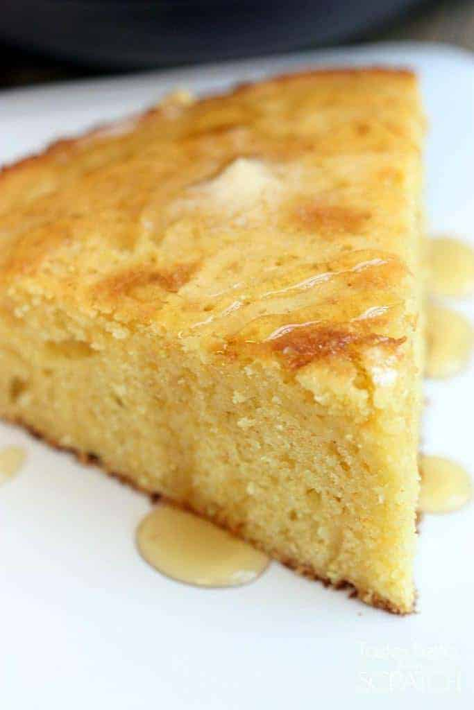 The BEST (and easiest!) Skillet Cornbread recipe! On TastesBetterFromScratch.com