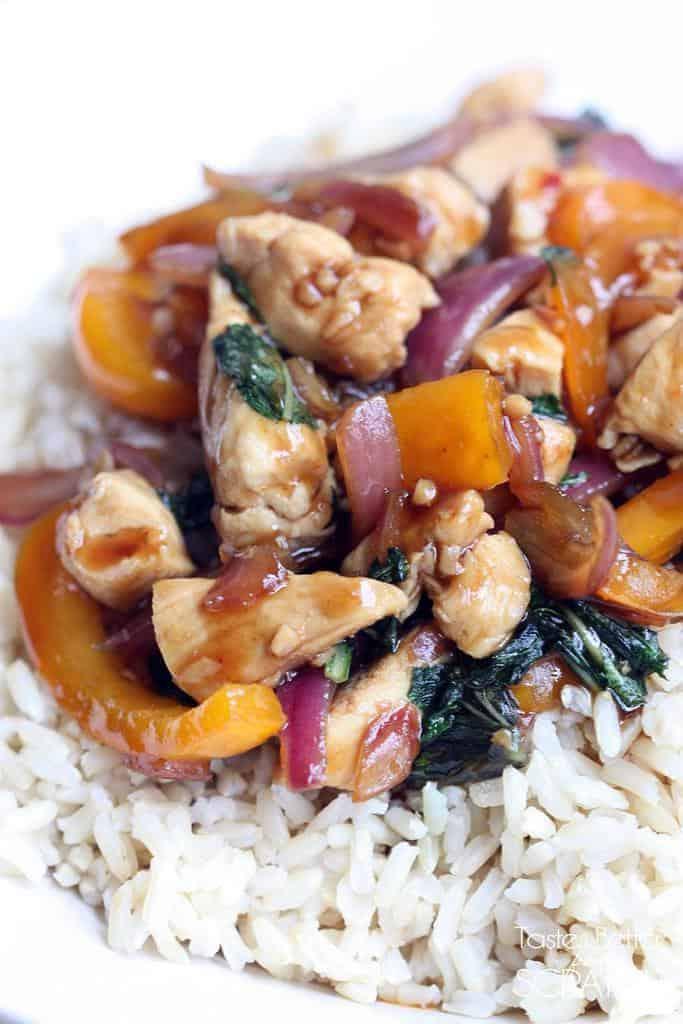 Thai Basil Chicken recipe from TastesBetterFromScratch.com