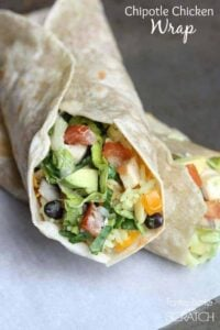 Chipotle Chicken Wrap recipe on TastesBetterFromScratch.com