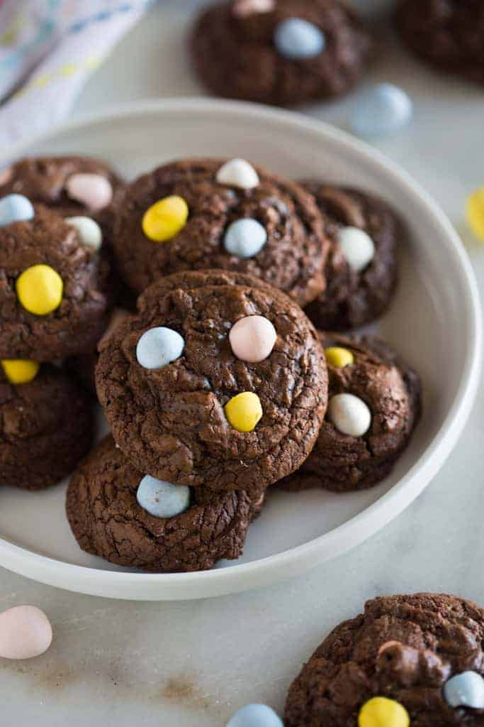 Chocolate Cadbury Egg Cookies Tastes Better From Scratch