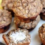 Healthy Banana Oat Muffins on TastesBetterFromScratch.com