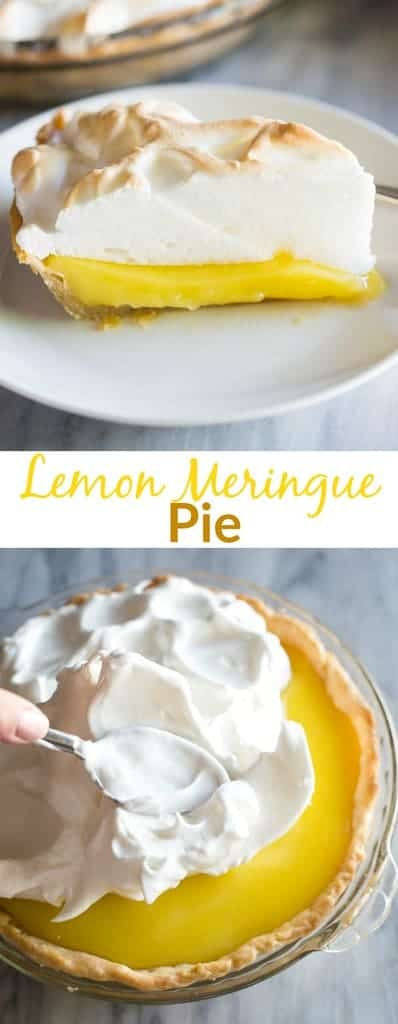 Fool-Proof Lemon Meringue Pie recipe, with tips to keep your pie from weeping and how to make the perfect meringue! #lemonmeringue #easy #recipe #meringue #tastesbetterfromscratch