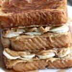 Peanut Butter Banana Stuffed French Toast on TastesBetterFromScratch.com