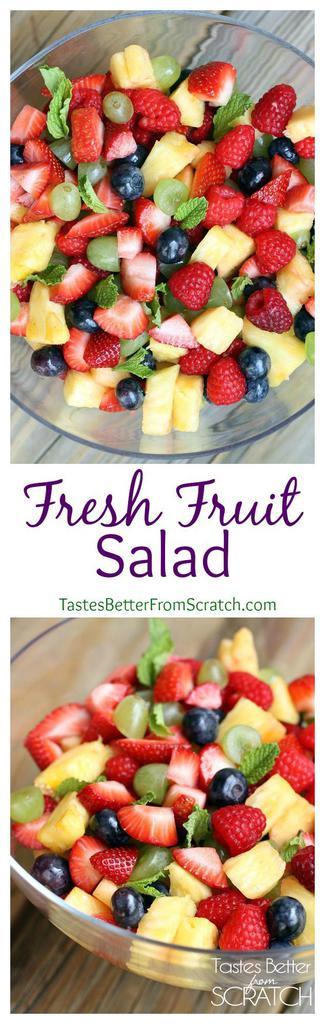 Fresh Fruit Salad recipe on TastesBetterFromScratch.com