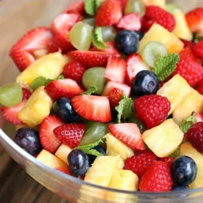 Fresh Fruit Salad recipe on TastesBetterFromScratch.com