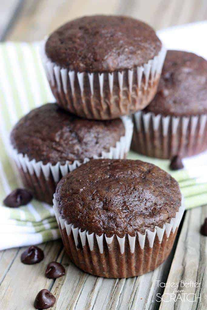 Greek Yogurt Double Chocolate Muffins - Tastes Better From ...