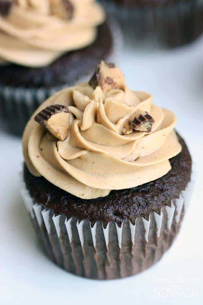 Reese's Peanut Butter Cupcakes from TastesBetterFromScratch.com