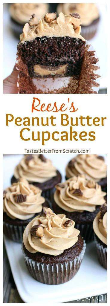 easy peanut butter cupcakes from scratch