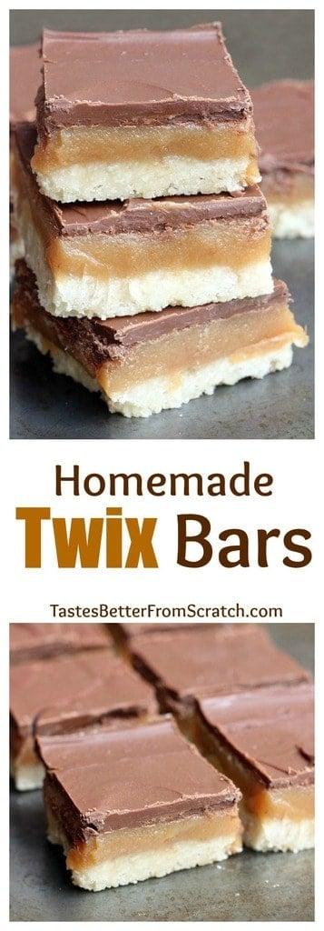 Homemade Twix Bars recipe from TastesBetterFromScratch.com