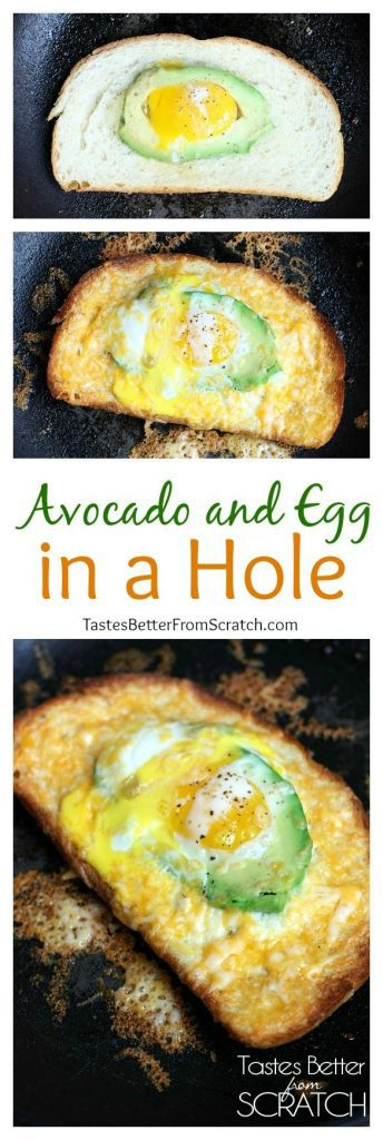 Avocado and Egg in a Hole from TastesBetterFromScratch.com