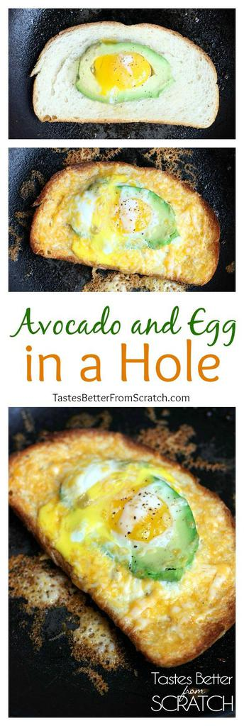 Avocado And Egg In A Hole Tastes Better From Scratch