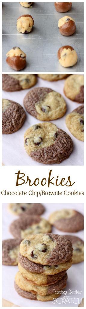 Chocolate Chip Brownie Cookies (Brookies)