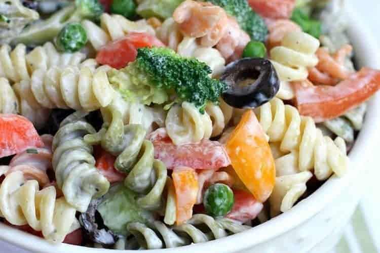 Creamy Summer Pasta Salad from TastesBetterFromScratch.com