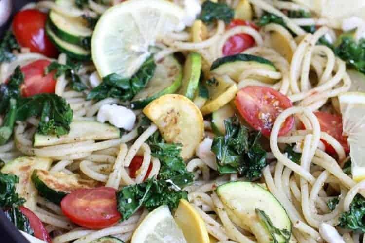Lemon Pesto Pasta on TastesBetterFromScratch.com