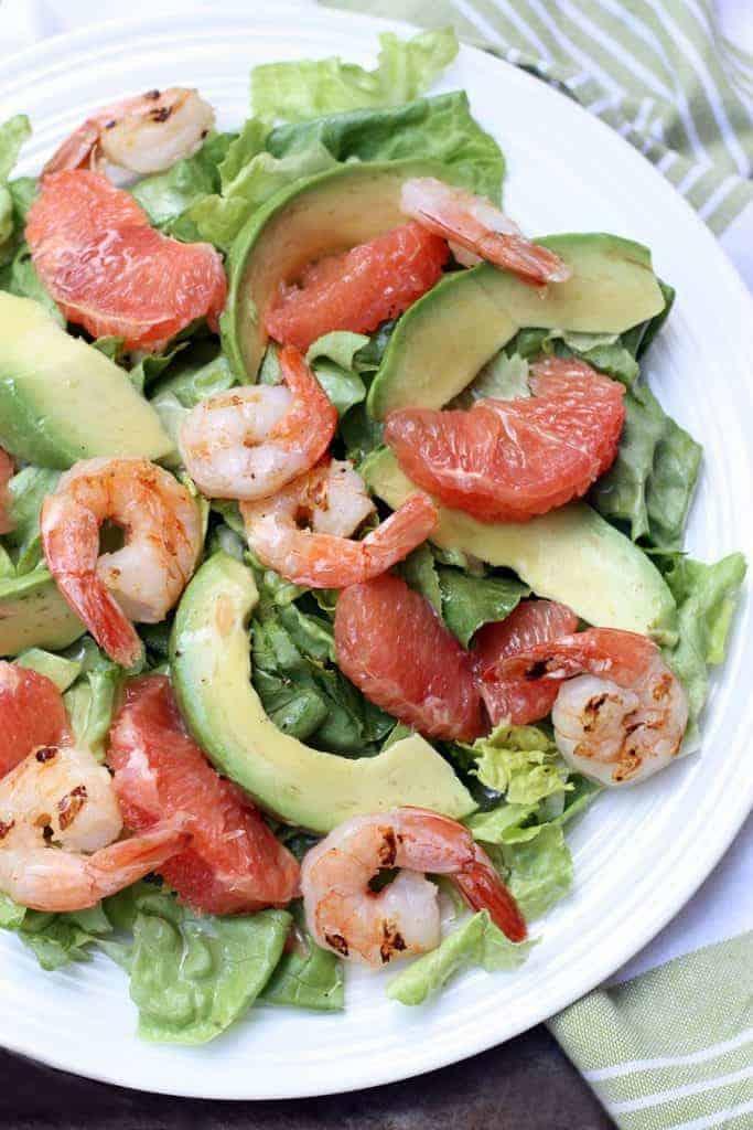 Grapefruit Avocado Salad on TastesBetterFromScratch.com