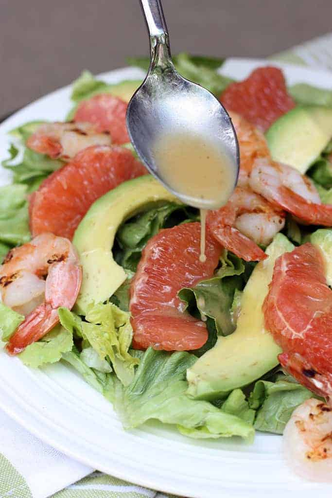 Grapefruit Avocado Salad on TastesBetterFromScratch.com