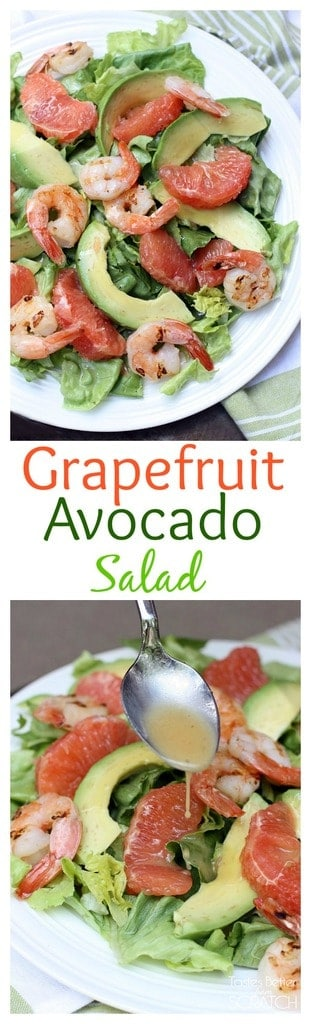 Grapefruit Avocado Salad from TastesBetterFromScratch.com