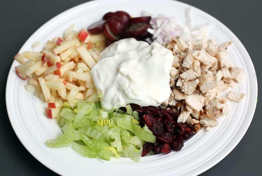 Greek Yogurt Chicken Salad Lettuce Wraps on TastesBetterFromScratch.com