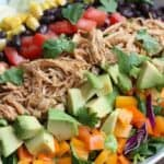 Shredded Chicken Taco Salad from TastesBetterFromScratch.com