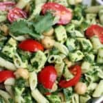 Spinach Avocado Pasta Salad on TastesBetterFromScratch.com