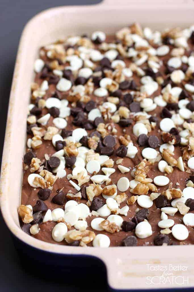 Triple Chocolate Brownie Bites on TastesBetterFromScratch.com