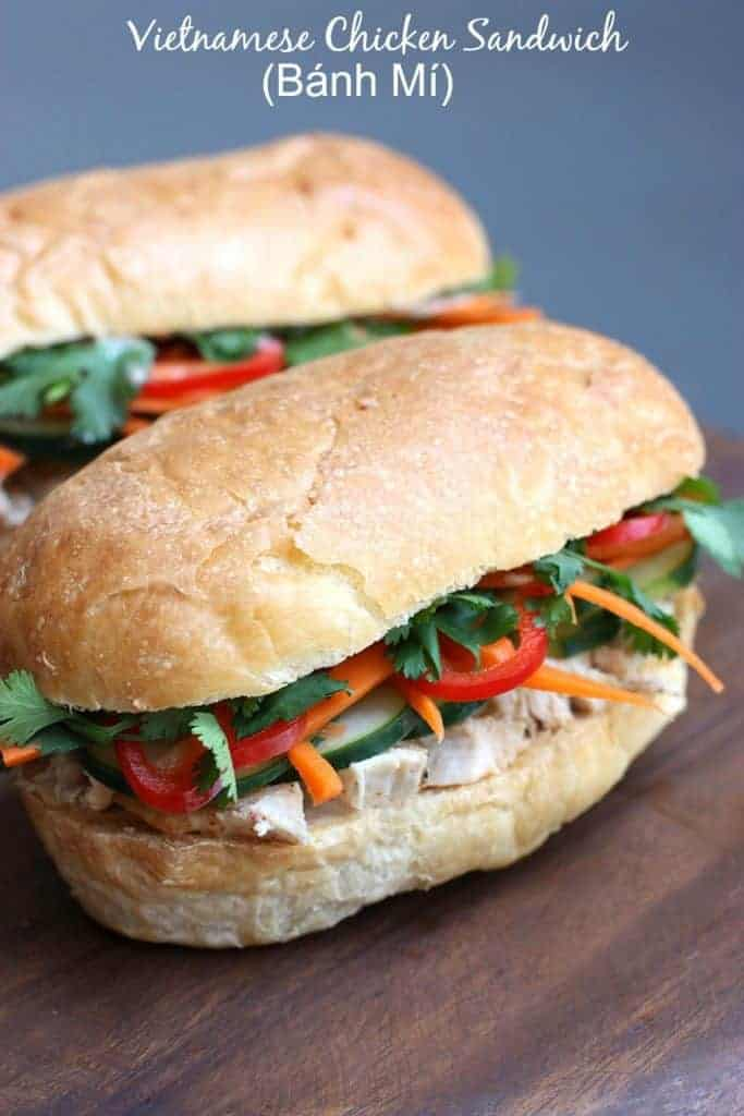 Vietnamese Chicken Sandwich (Bánh Mí) on TastesBetterFromScratch.com