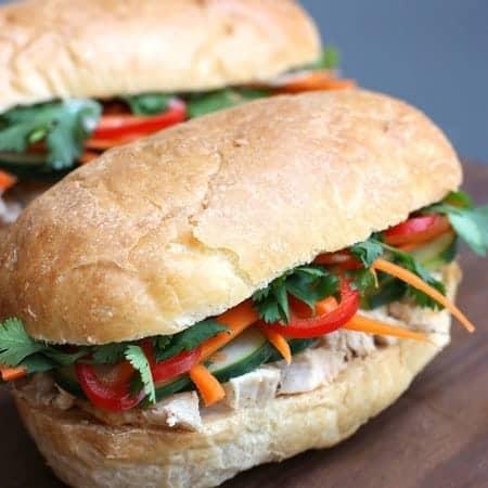 Vietnamese Chicken Sandwich (Bánh Mí) on TastesBetterFromScratch.com