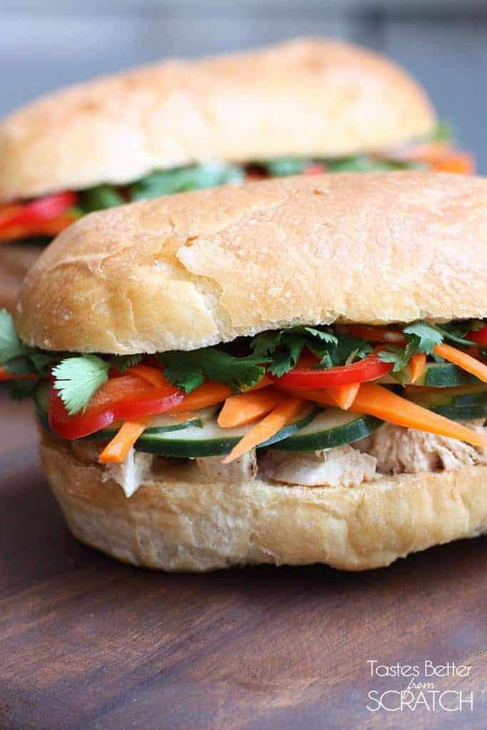Vietnamese Chicken Sandwich (Banh Mi) Recipe — Dishmaps
