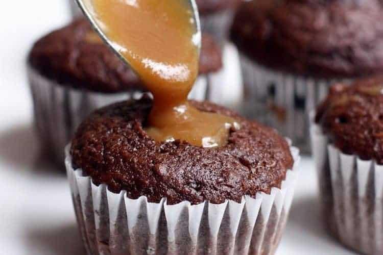 Caramel Filled Chocolate Cupcakes