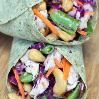 Chicken Cashew Crunch Wraps
