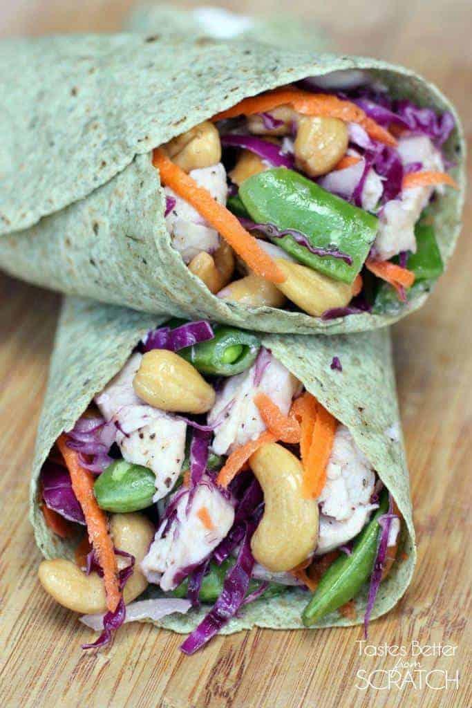 Chicken Cashew Crunch Wrap | Tastes Better From Scratch