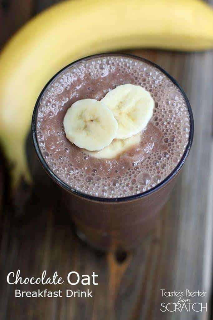 Chocolate Oat Breakfast Drink from TastesBetterFromScratch.com