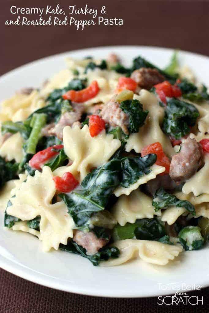 Creamy Kale, Sausage and